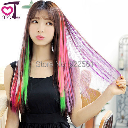 Women's Hair extensions Long Synthetic Clip Punk hair pieces - Show your personality store