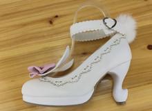 Female Japan Lolita girls student Pumps shoes platform high heeled Harajuku princess rabbit cosplay lolita ears