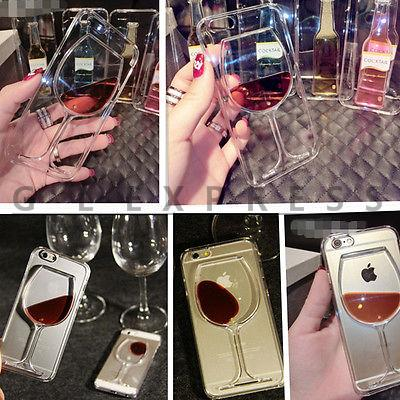2015 3D Liquid Cocktail Bottle Flow Red Wine Glass Case Cover For IPHONE 5S 6 Plus(China (Mainland))