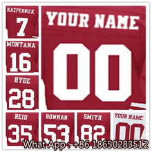 100% Stitched With Customized #7 Colin #16 Joe #28 Carlos #35 Eric #53 NaVorro #82 Torrey Men's Black White Red Jersey(China (Mainland))