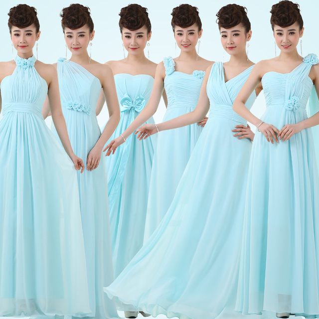 bridesmaid dresses color solid