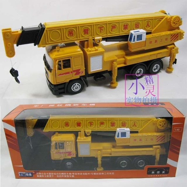 Engineering car alloy crane toy exquisite gift