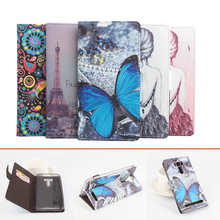 HOT! 10 Patterns Flip Leather Case cover Asus Zenfone 2 Laser ZE550KL 5.5 inch - Superzone International Holding co.,Ltd store
