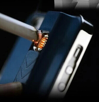 New Businessman Style USB Electronic Cigarette Lighter Case for iPhone 4 4s 5 5s 6 Plus Galaxy S3 S4 S5 Note 3 4 PC Hard cover