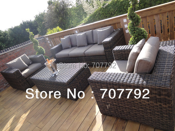 2014 New Style grey wicker outdoor furniture in Rattan