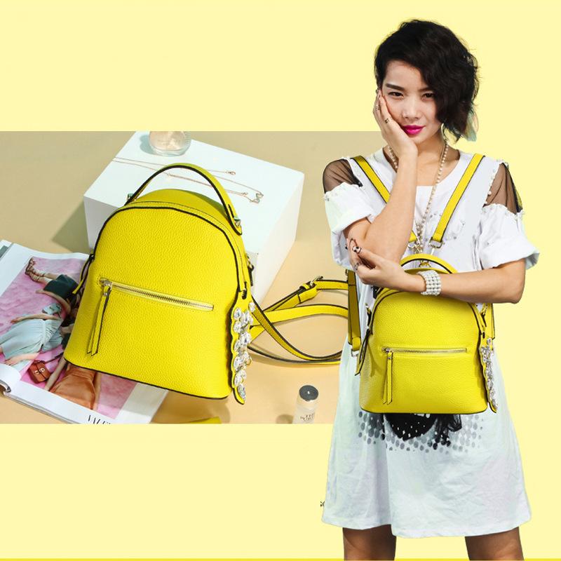 Diamonds Women Korean Backpack Mochilas Hologram Camelback Mochila Escolar Bag School Bags For Teenagers PU Leather Candle Color<br><br>Aliexpress