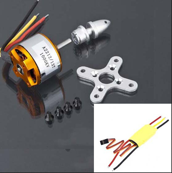 free shipping!! XXD A2212 KV930 KV1000 KV1400 KV2200 Brushless Outrunner Motor + XXD 30A ESC for RC Aircraft QuadCopter UFO(China (Mainland))