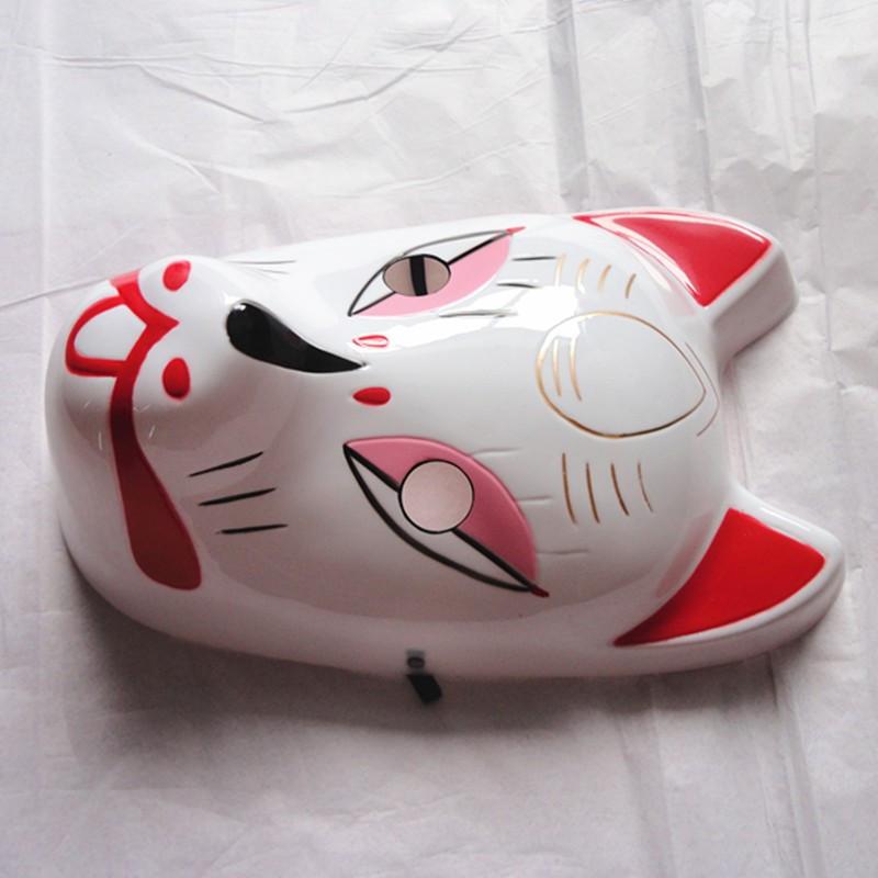 Naruto Hatake Kakashi Anbu Japanese Fox Mask Animal Hand-Painted Cartoon Face Mask Demon Kitsune Cosplay Masquerade Carnival (1)