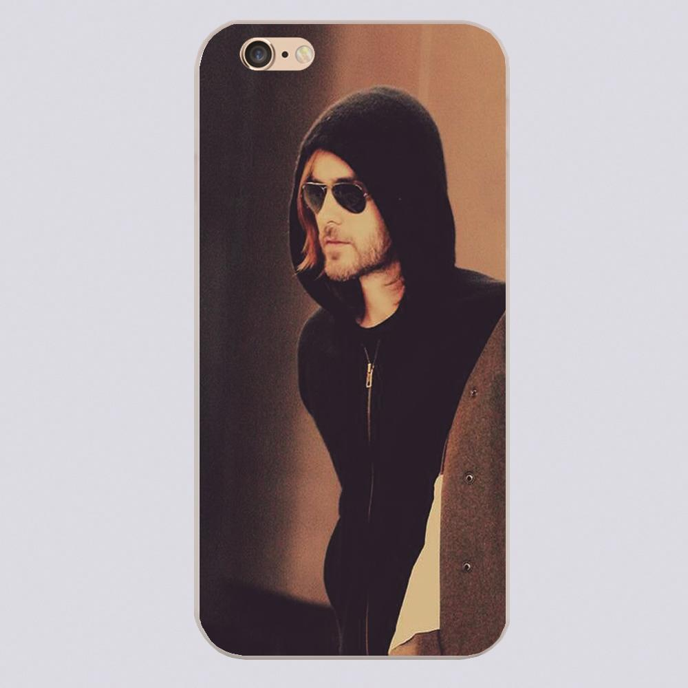 30 Seconds To Mars Jared Leto 4 Design black skin plastic case cover cell phone cases for iphone 4 4s 5 5c 5s 6 6s plus case(China (Mainland))