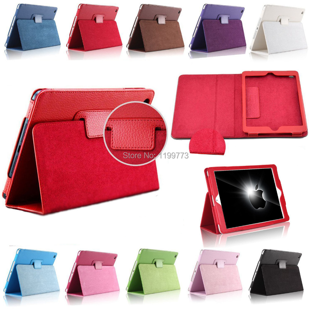 Matte Litchi Surface PU Leather Case for apple iPad 2 iPad 3 iPad 4 case Smart Stand Magnetic Sleep Wake UP Pouch Cover(China (Mainland))