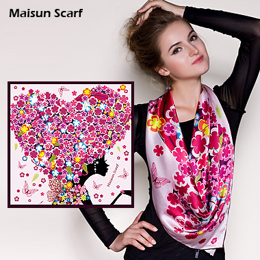 Maisun 90x90cm 100% silk pashmina shawl women latest scarves unique design hijab fashion autumn summer square scarf