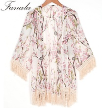 Buy New Arrivals 2017 Women Blouses Plus Sizes Floral Cardigan Women Tops Chiffon Batwing Blouse Kimono Cardigan Chemise Femme XL for $8.16 in AliExpress store