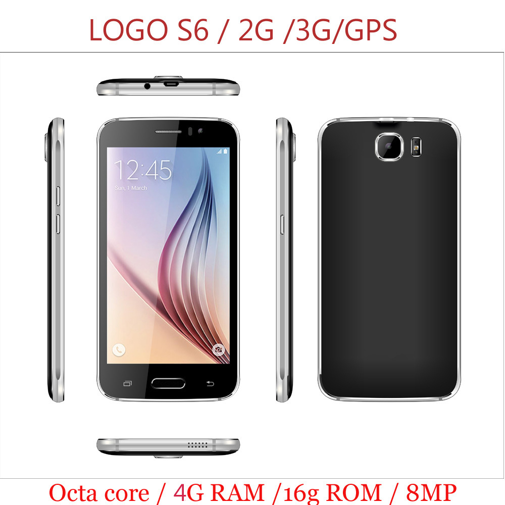"Original Smartphone LOGO S6 MTK6592 Octa Core 5.1"" 1080P 4G RAM 16G ROM Dual Sim 8.0MP Camera android 4.4.3 cell Mobile Phone(China (Mainland))"
