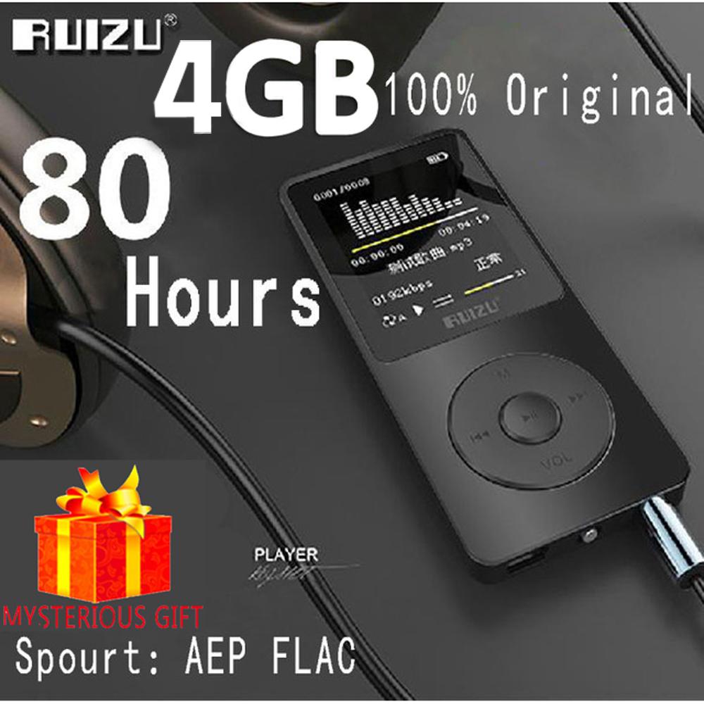 Ruizu X02 Lossless Flac Car Portable Mini Hifi Digital Sport Audio Screen Mp 3 Music Mp3 Player 4GB Radio FM Support TF Micro SD(China (Mainland))