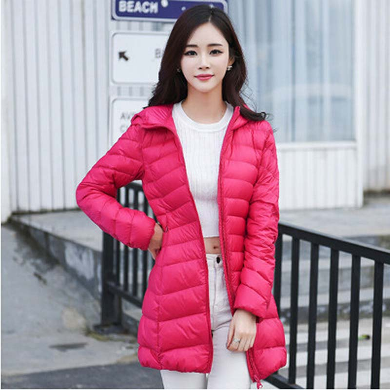 Europe 2015 winter warm new long down jacket Coat high quality women Slim hooded plus size white duck 90% down jacket  AE771Одежда и ак�е��уары<br><br><br>Aliexpress