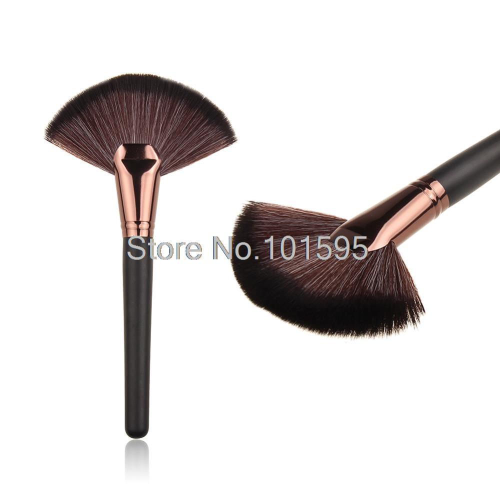 20Sets/Lot New Hot 1 pcs large fan makeup brush foundation blush contour powder cosmetic tool big fan makeup brushes(China (Mainland))
