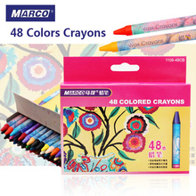 Buy Marco 48 Colors Crayon Non-toxic Drawing Wax Oil Pastel Set School Student Kids Color Pencils Toys Stationery Art Supplies for $9.99 in AliExpress store