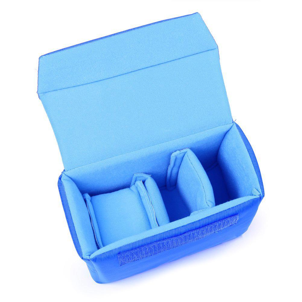 Professional Shockproof DSLR SLR Camera Bag Partition Padded Camera Insert, Make Your Own Camera Bag Blue(China (Mainland))
