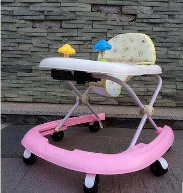 Step children baby walkers help car multifunctional easy installation folding side turn U baby walker Free Shipping(China (Mainland))