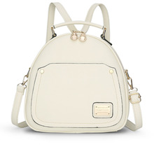 hot sale 2016 new lolita style pu zipper women backpack high quality polyester shoulder bags famous lady embossing bag 747(China (Mainland))