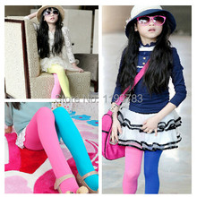 1PC Trendy 20 styles Candy Color Girls Kids Two-colors Seamless Pantyhose Legging Free&Drop Shipping