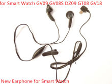 2016 newest Earphone for Smart Watch GV09 GV08S DZ09 GV18 Earphone with Micro USB Plug Microphone Support Call FM Radio Antenna