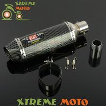 51mm Motorcycle Exhaust Muffler With Moveable DB Killer For CB400 600 CBR600 1000 YZF R1 R6 GSXR NINJA Z750 800 Street Bike