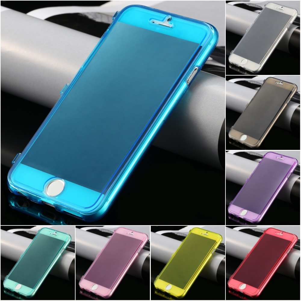 Case for iphone6 4.7/ plus 5.5 Ultra thin Crystal Clear Soft Silicon TPU Gel Flip Transparent Cover for apple iphone 6/ plus(China (Mainland))