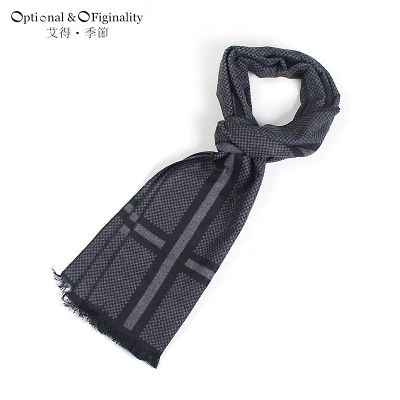 Mens 2016 Fashionable tassel British style scarves Long Fringe Check Tassel Scarf cotton tartan scarf for winter Spring autumn