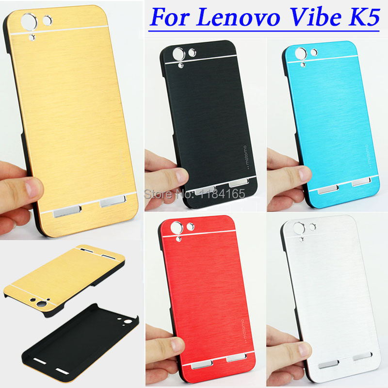 Luxury Brushed Metal Plastic Case for Lenovo Vibe K5 / K5 Plus / 5 inch Back