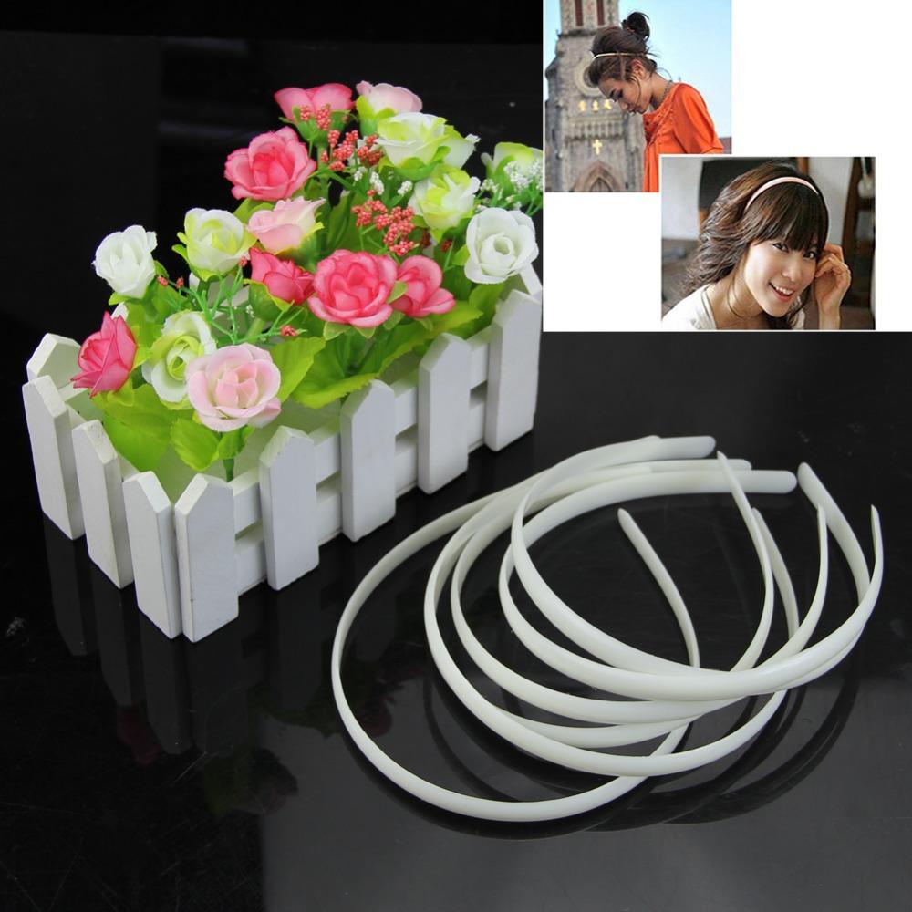 Y92 Free Shipping 12pc White Fashion Plain Lady Plastic Hair Band Headband No Teeth Hair DIY Tool(China (Mainland))