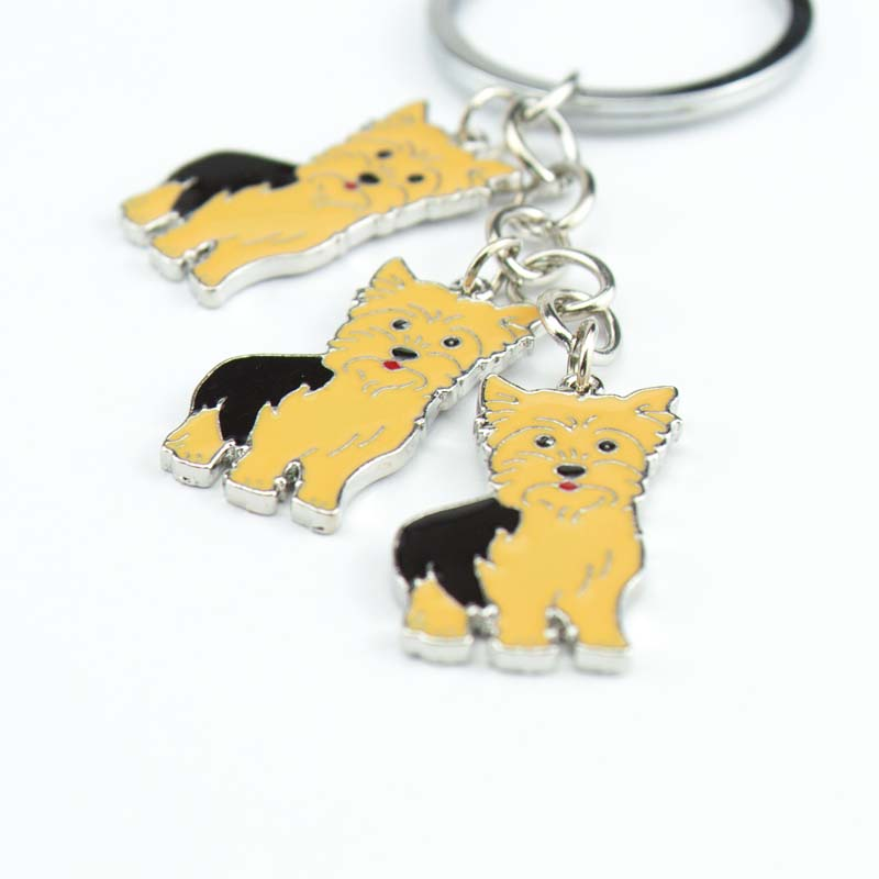Can wholesale NEW yorkshire terrier PET dogs Key chain gift Keychain car Keychain on bag rings for women keychain on the keys(China (Mainland))