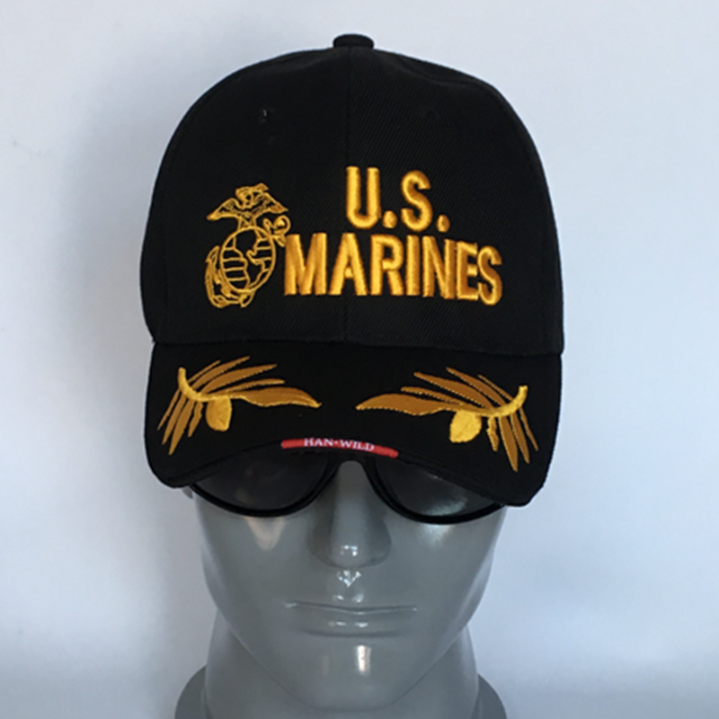 3Colors Cool Marines Hats Outdoor Military Tactical Baseball Caps Casual Sports Mens Army Caps Militar Marines men for women(China (Mainland))