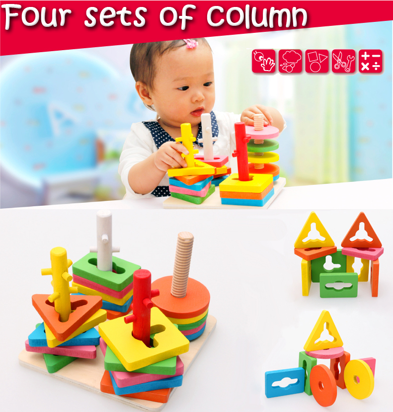 Model Building Kits Brand Wooden Blocks educational Toy Wooden Toys for child brinquedos educativosToy Puzzles for Boy Gift Free(China (Mainland))