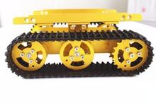 T100 Aluminium Goldenen legierung tank auto chassis/smart auto/Alle-metall hindernis-überwindung crawler motoren mit drehzahlerfassung encoder(China (Mainland))