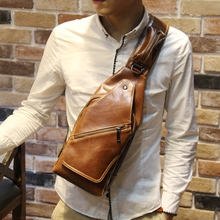 New fashion brand Men's messenger bags retro chest pack cross body chest bag small outdoor travel shoulder bag mini phone bag