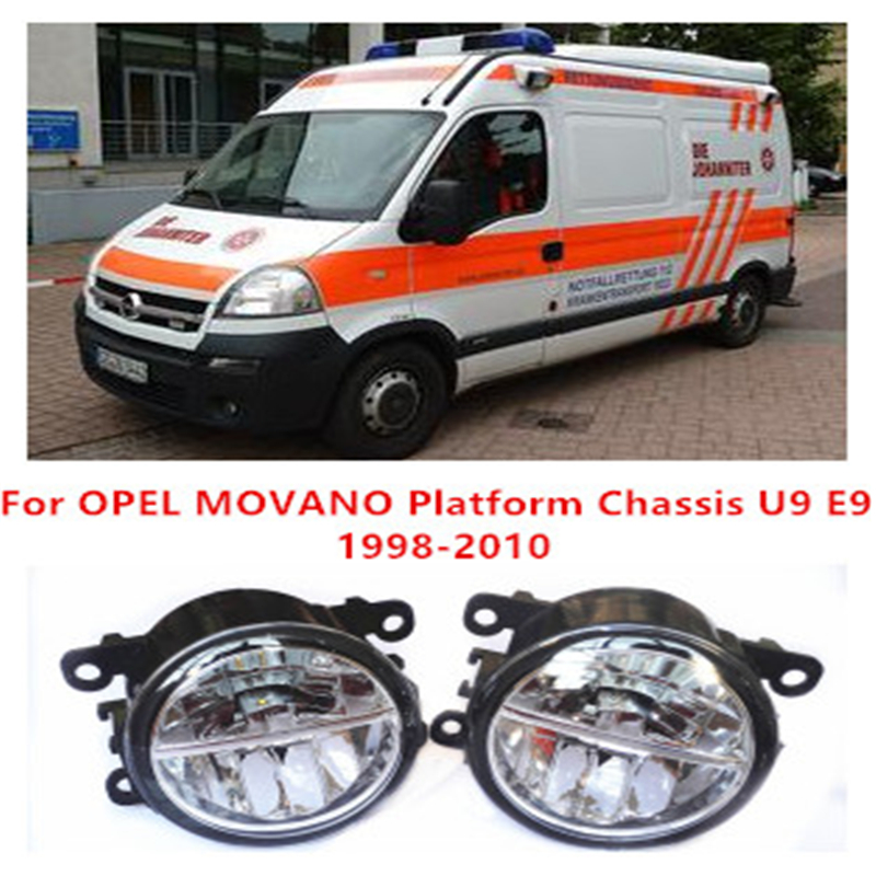 For OPEL MOVANO Platform Chassis U9 E9  1998-2010  10W Fog Light LED DRL Daytime Running Lights Car Styling<br><br>Aliexpress