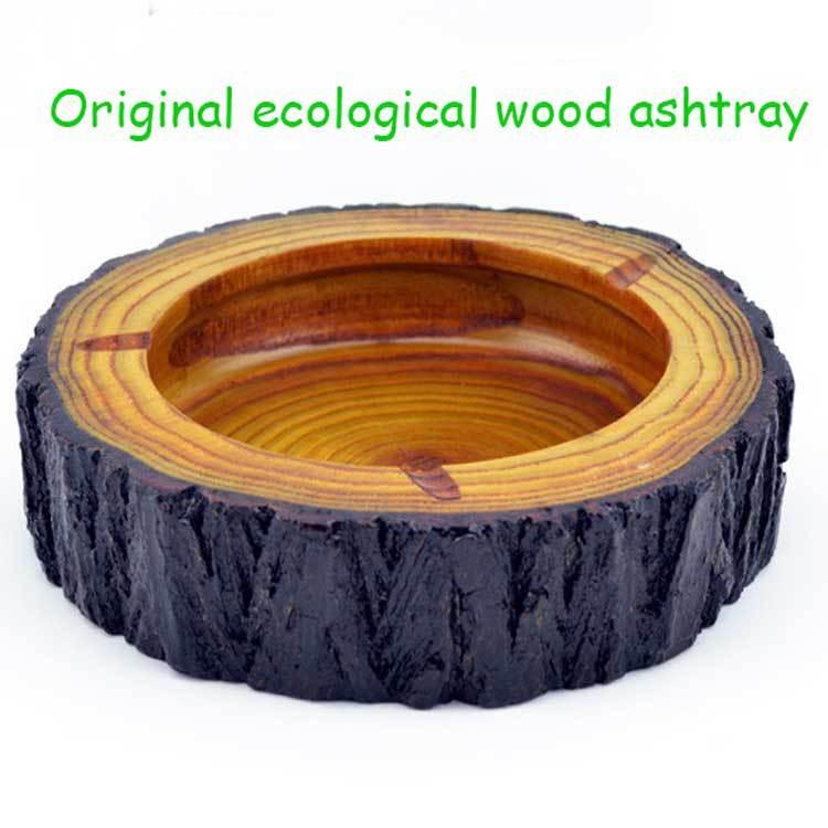 Creative Personalised Wooden Ashtray Natural Wood Cool Ashtray Creative Gifts / Classic Tabletop Decoration Pocket Car Ashtray(China (Mainland))