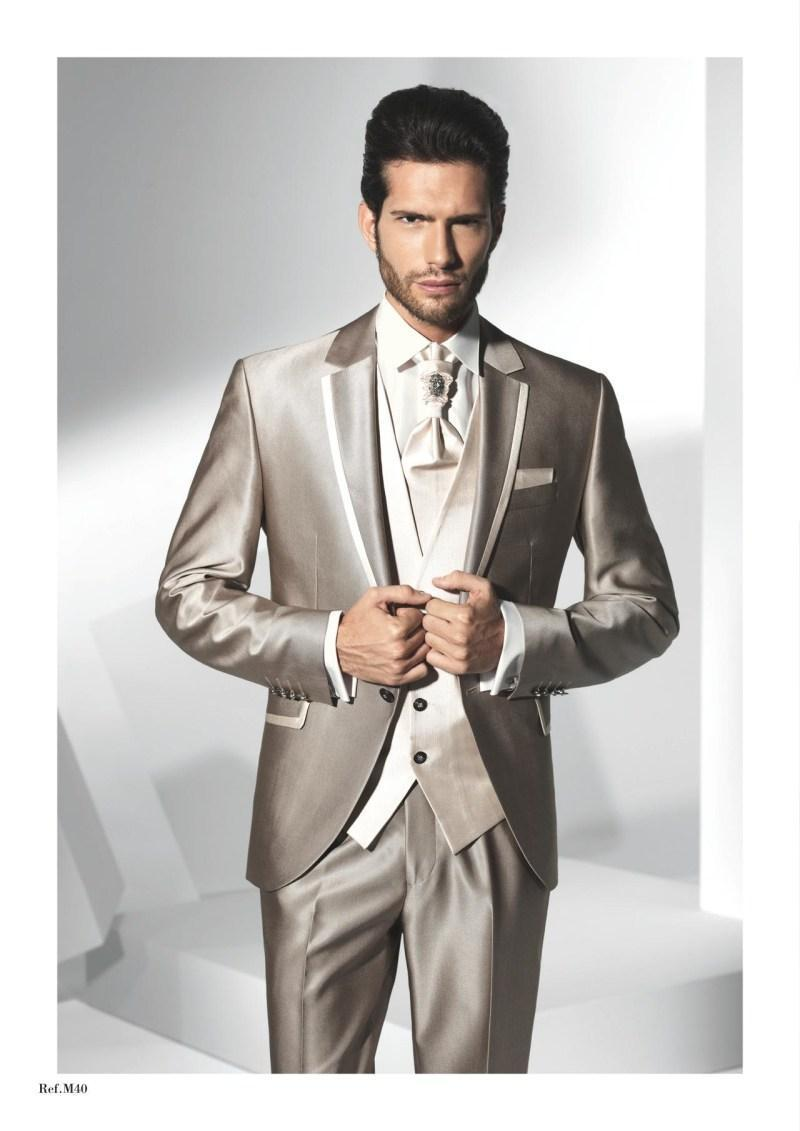 Custom Made Groom Tuxedos Notch Lapel Groomsmens Best Man