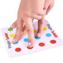 Traditional Friends Family Gathering Party Finger Twister Board Game Funny Mini Table Games Hit Toy(China (Mainland))