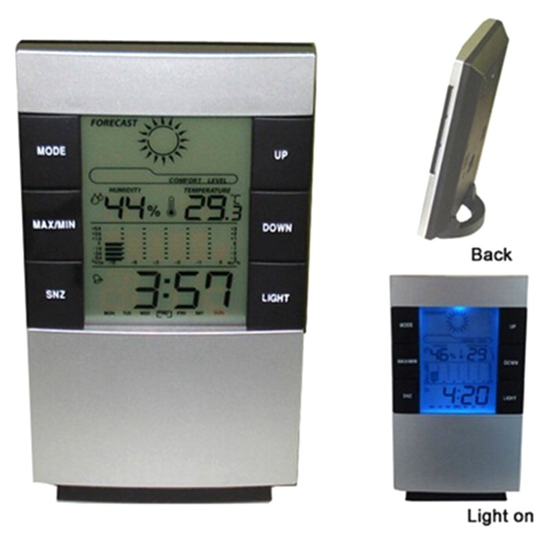 New Arrival LCD Display Digital Indoor Weather Thermometer Clocks Humidity Meter Hygrometer Temperature Measure Instruments(China (Mainland))