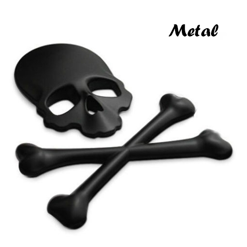 3D 3M Car Accessories Metal Car Stickers Skull Emblem Badge Car Styling For Jeep SUV Harley Honda Yamaha Toyota motorcycle