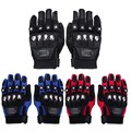 3 colors Motorcycle Gloves Outdoor Sports Full Finger Motorcycle Riding Protective Armor Black Short Leather Warm