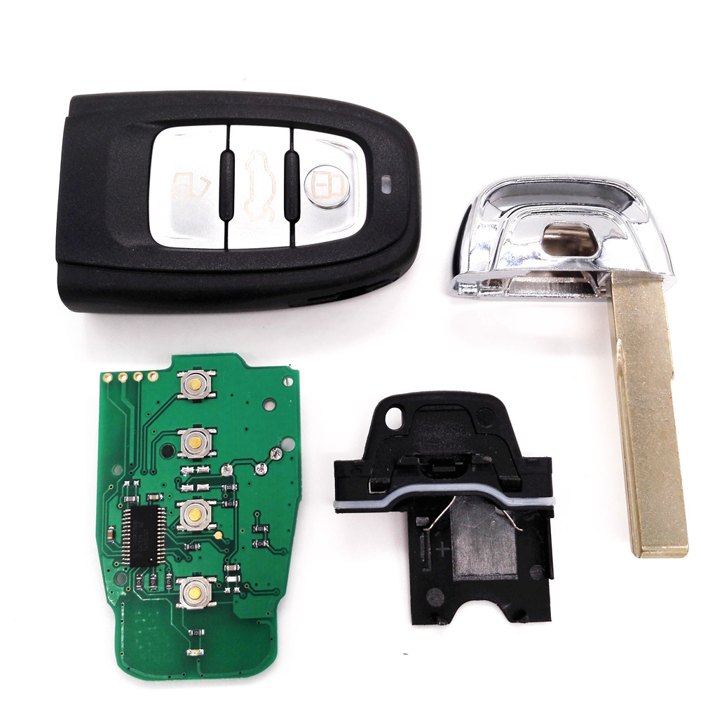 High Quality 1PCS 3 Buttons 315/433/868MHz Smart Remote Car Key 8T0 959 754 C for Audi A4L Q5(China (Mainland))