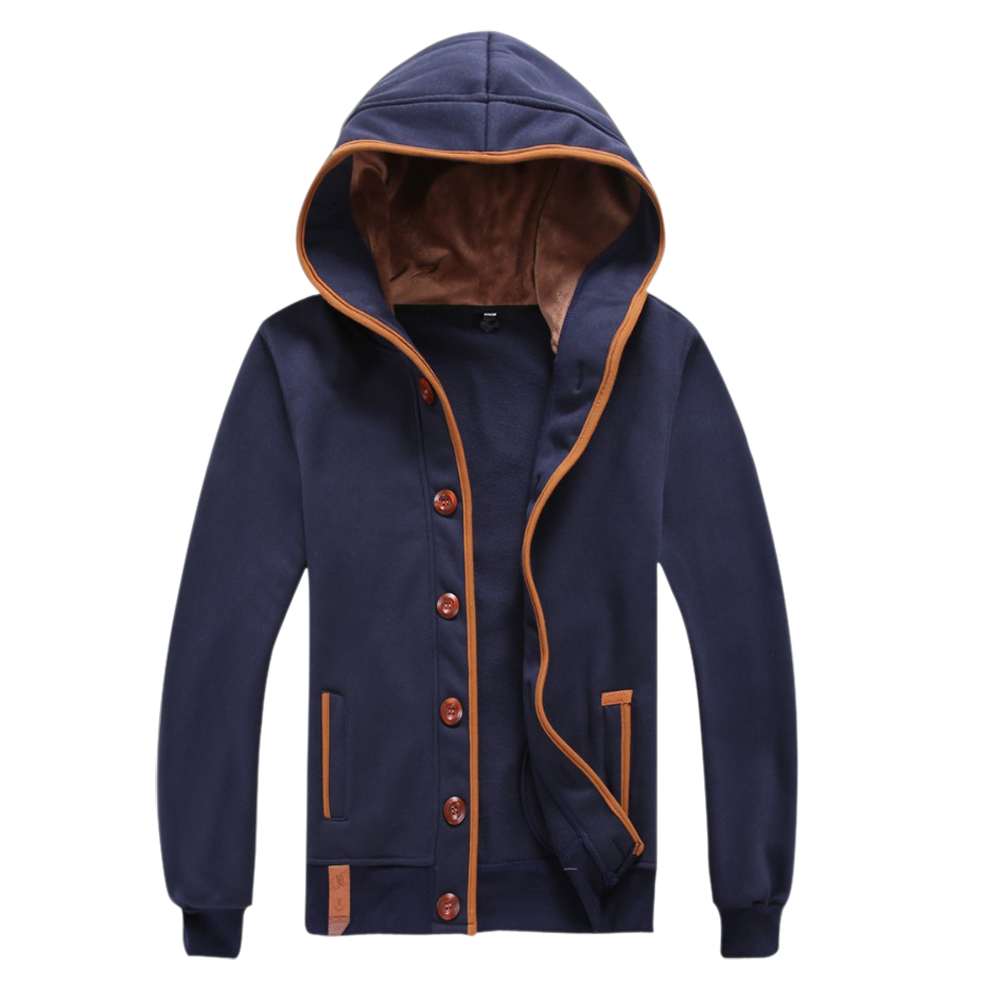 FS Hot Men Hoody Casual Hoodie Sweatshirt Sports Coat Cardigan Navy Blue 5XL(China (Mainland))