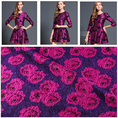 ML2016105 Autumn and winter plush cloth fabric 100% Cashmere wool printed Three-dimensional jacquard fabric(China (Mainland))