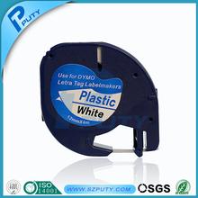 Dymo plastic LT label tape 91201 DYMO LetraTag Label Tape DYMO label printer 12mm*4m black on white
