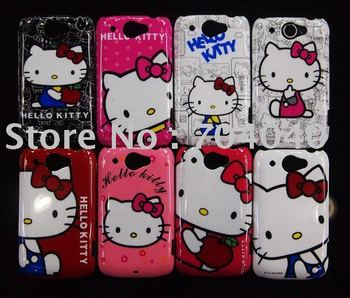 For HTC G8 Hello Kitty Case Brand New Plastic Hard Back Cover Case For HTC Wildfire G8 free shipping