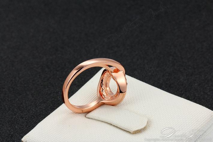 Горячая распродажа годовщина ну вечеринку кольца 18 К розовое / белый позолоченный CZ алмаз рок пальца кольцо мода ювелирных изделий для женщин DFR221M
