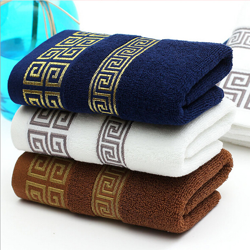 33*73cm Jacquard Cotton Terry Hand Towels,Solid Decorative Elegant Embroidered Bathroom Hand Towels,Face Hand Towels(China (Mainland))